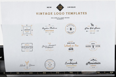 Modern Vintage Logo & Badges Vol 1