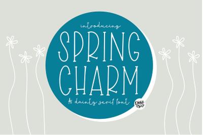 SPRING CHARM Skinny Serif Font