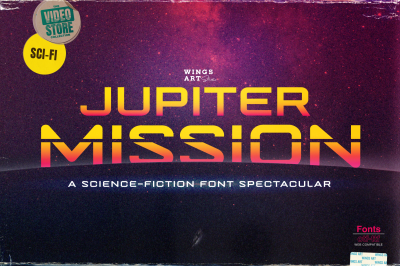 Jupiter Mission: A Science-Fiction Font Spectacular