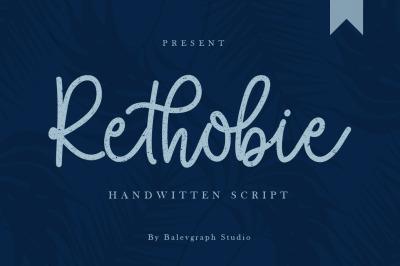 Rethobie Handwritten Script Font