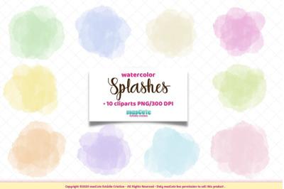 Watercolor Splashes,Brush Stokes