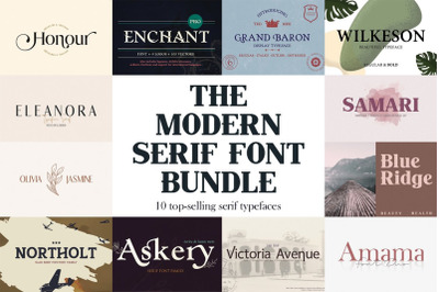 The Modern Serif Font Bundle