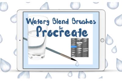Water Blending Brushes for Procreate X 26 Brushes
