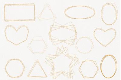 Digital gold frames png