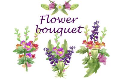 Floral bouquet png, Flower stem botanical clip art