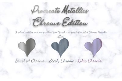 Procreate Chrome Colour Palette x 3 - 90 Shades & Gradient Bond Brush!