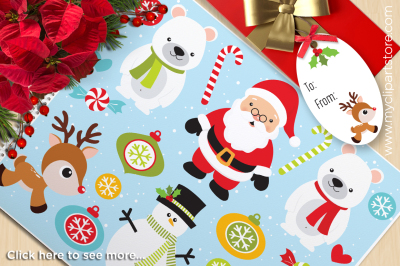 It's Christmas! Vector Clipart