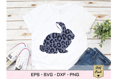Leopard Bunny SVG, Cheetah print Easter rabbit SVG