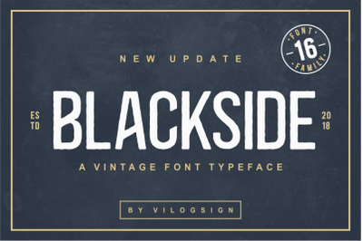 Blackside a Vintage Retro Font