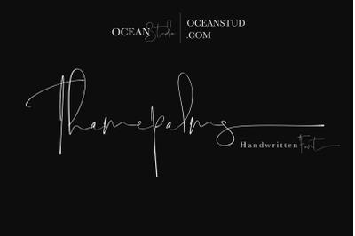 Thamepalms | Handwritten Font