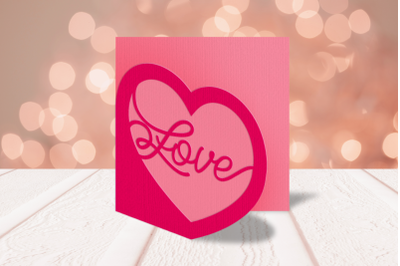 Love Heart Layered Papercut Card   SVG   PNG   DXF   EPS