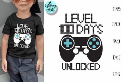 Level 100 days unlocked svg, kids svg