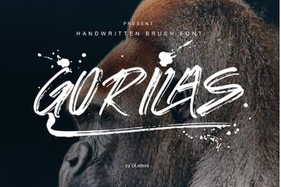 Gorilas  Hand Brush Font