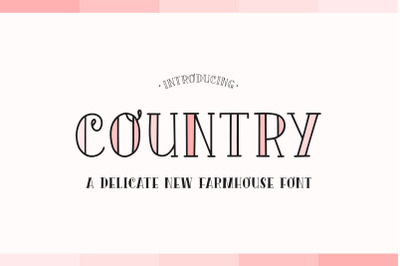 Country Font Duo (Farmhouse Fonts, Country Fonts, Rustic Fonts)