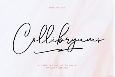 Collibryums Signature Font Extra Swash