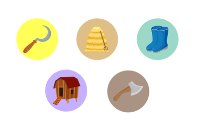 Rural boots fill Bundle Icon