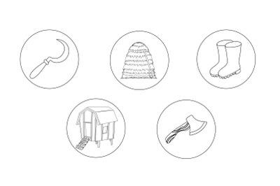 Rural boots outline Bundle Icon
