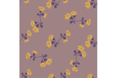 Hand drawn meadow flowers seamless pattern abstract background wallpap