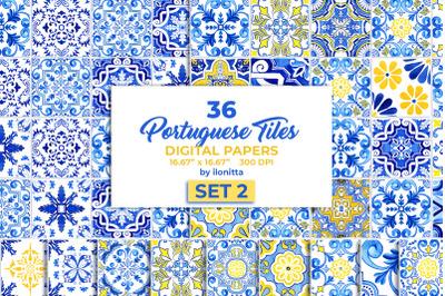 Portuguese Tiles Digital Papers Set2