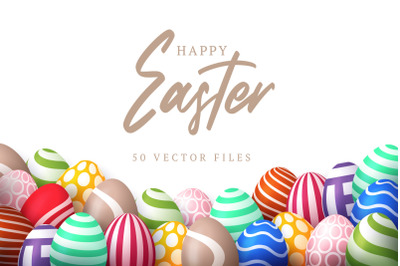 50 Easter colorful design