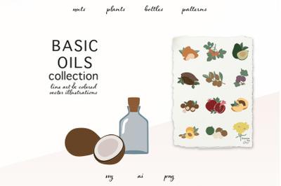 Basic oils vector clip art