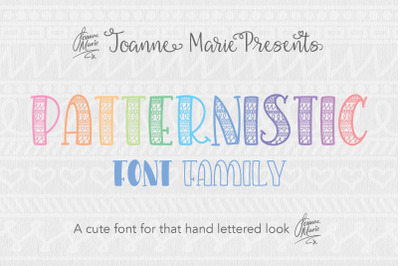 Patternistic pattern font