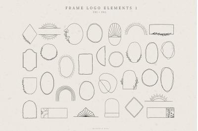 Frame Logo Elements, Logo Design, Business card, Abstract