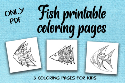3 Zentangle Fish Printable Coloring Pages.