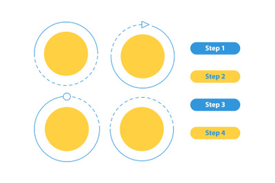 Modern multipurpose vector infographic elements set