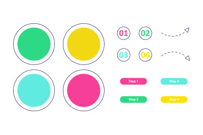 Blank bright vector infographic elements set