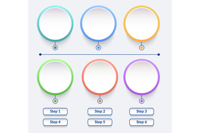 Circle vector infographic elements set in minimal style