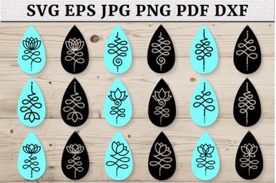 Lotus Earring SVG Bundle, Earrings SVG Templates