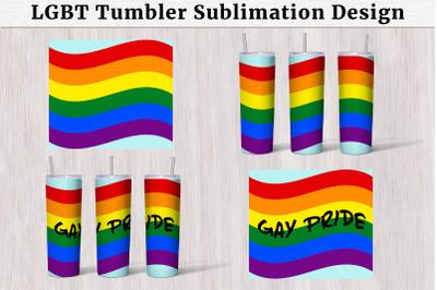LGBT Pride Tumbler 20 oz Sublimation Design Crafters Sublimation