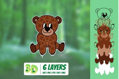3D Bear SVG