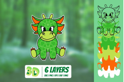 3D Dragon SVG