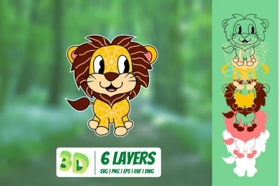 3D Lionet SVG