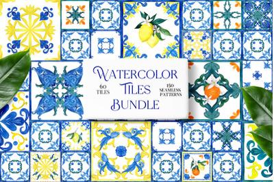 Watercolor Tiles Bundle