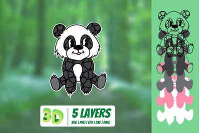 3D Panda SVG
