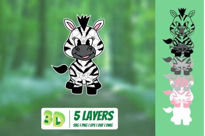 3D Zebra SVG