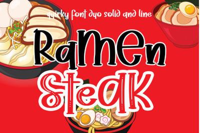 Ramen Steak