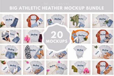 Big Athletic Heather Mockup Bundle