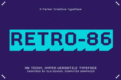 Retro 86 - Cool Pixel Font