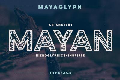 Mayaglyph - Aztec Pattern Font