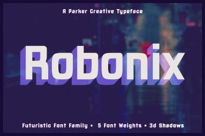 Robonix   Futuristic Shadow Font