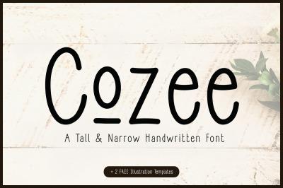 Cozee   Tall Narrow Font + FREEBIES