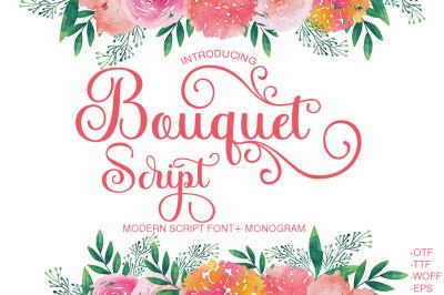 Bouquet Script+ Monogram