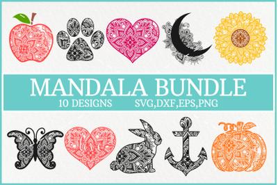 Mandala Svg Bundle, Pumpkin Mandala Svg, Sunflower Mandala Svg