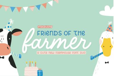 Friends of the Farmer (Farmhouse Fonts, Cute Fonts, Kids Fonts)