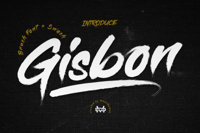 Gisbon - Brush Typeface