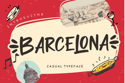 Barcelona Casual Typeface